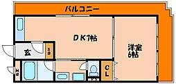 フローラルハイツダイキIII[4階]の間取り