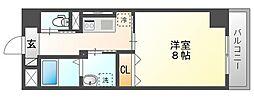 JR山陽本線 岡山駅 徒歩14分の賃貸マンション 7階1Kの間取り