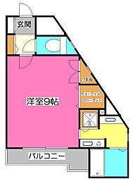 所沢メゾン6号館[1階]の間取り