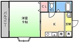 大仙パークハウス[1階]の間取り