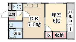 リバーサイド栄根II[2階]の間取り