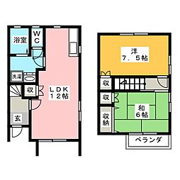 [テラスハウス] 静岡県浜松市西区大平台1丁目 の賃貸【/】の間取り