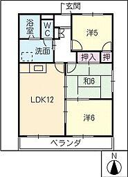 ハイツ杉松[1階]の間取り