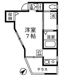 ウィンズ上永谷D棟(ウィンズカミナガヤDトウ)[2階]の間取り
