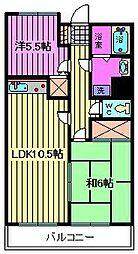 グレイスハイム[203号室]の間取り