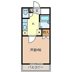 サンパレス篠ノ井[1階]の間取り