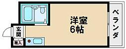 プレアール昭和町[4階]の間取り