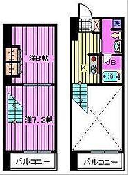 埼玉県さいたま市浦和区東仲町3丁目の賃貸マンションの間取り