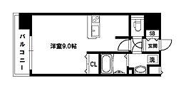 アスヴェル新北野モスト[3階]の間取り