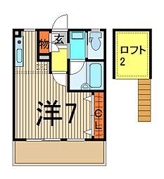 E・T・F[2階]の間取り