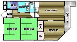 アプティ3番館[5階]の間取り