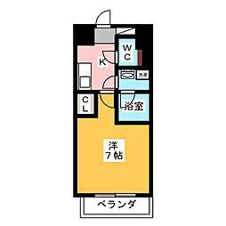 ヴィークブライト名古屋東別院 4階1Kの間取り