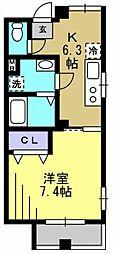 フルーレ[305kk号室]の間取り