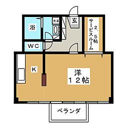 二日町ホームプラザ[11階]の間取り