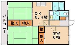 福岡県春日市大谷8丁目の賃貸マンションの間取り