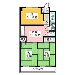 メゾンひばり[3階]の間取り