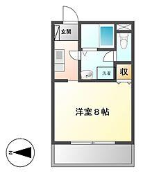 オータムライトII[1階]の間取り