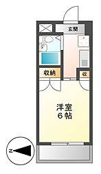 岩井橋ロイヤルハイツ[11階]の間取り