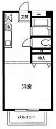 ヒルズ三田[3階]の間取り