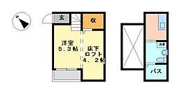 サウザンドサニーヒルズ八田[2階]の間取り