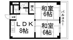 成田グリーンハイツ[0203号室]の間取り