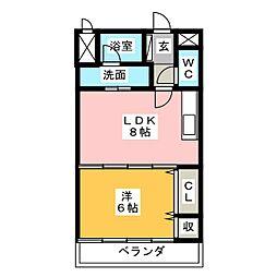 グレイスコート[3階]の間取り