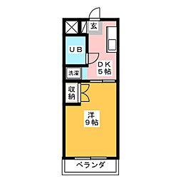 セリバテール[3階]の間取り