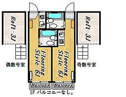 エクセル8[2階]の間取り