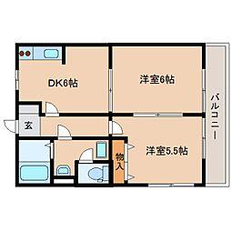 静岡県静岡市駿河区用宗3丁目の賃貸アパートの間取り