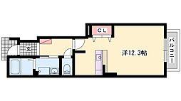 ラフレシールH[105号室]の間取り