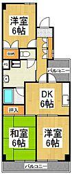 リシェス久米川2号館[2階]の間取り