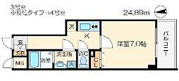 アドバンス大阪城グラシア[8階]の間取り