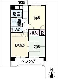 サンファミリー鈴木[3階]の間取り