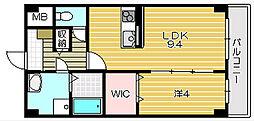 フローリッシュ茨木[2階]の間取り