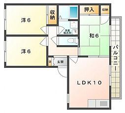 メゾン新家 A[1階]の間取り