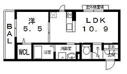 仮)シャーメゾン宮町1丁目計画[202号室号室]の間取り