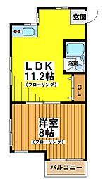 東京都世田谷区大原2丁目の賃貸マンションの間取り