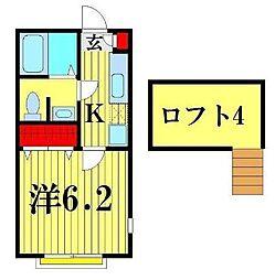 KG八潮I[2階]の間取り