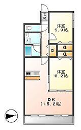 ロフティー上野[1階]の間取り