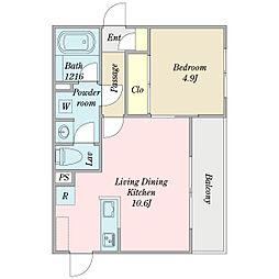 Maison Ishii 4階1LDKの間取り