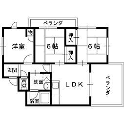 オーナーズマンション若江[7階]の間取り