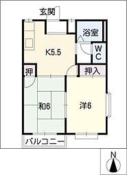 セピアガーデン[1階]の間取り