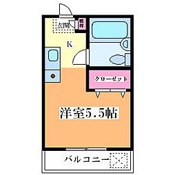 メゾンドセジュール[4階]の間取り