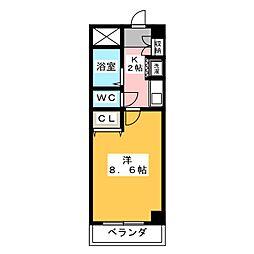 ピュアグリーン[3階]の間取り