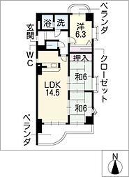 IOLANI・GARDEN[4階]の間取り