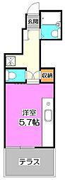 ビジュー石神井公園レジデンス[1階]の間取り