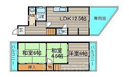 [一戸建] 大阪府堺市東区白鷺町3丁 の賃貸【/】の間取り