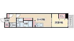 ジューム南森 7階1DKの間取り