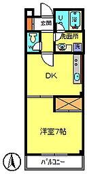 サンウッド6[6階]の間取り