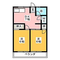 シティハイムヤマウチ[2階]の間取り